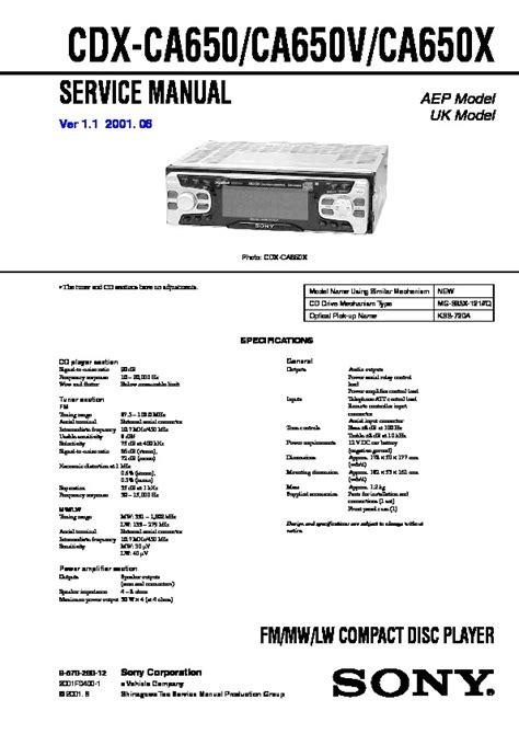 sony cdx ca650x wiring diagram wiring diagrams