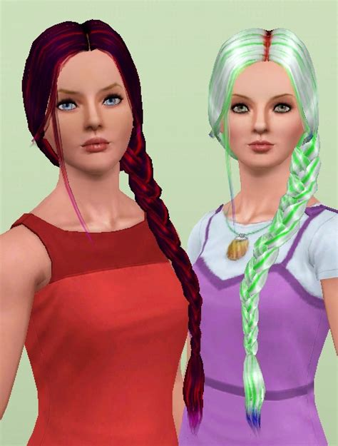 sims 4 side braids mod the sims nouk side braid conversion all ages