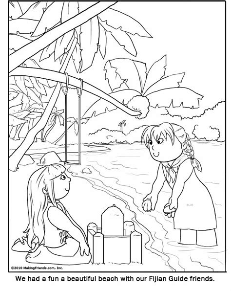 Fijian Girl Guide Coloring Page Guide Coloring Pages