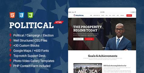 Political Multipurpose Caign Election Html Template Download Nulled Rip Political Website Templates