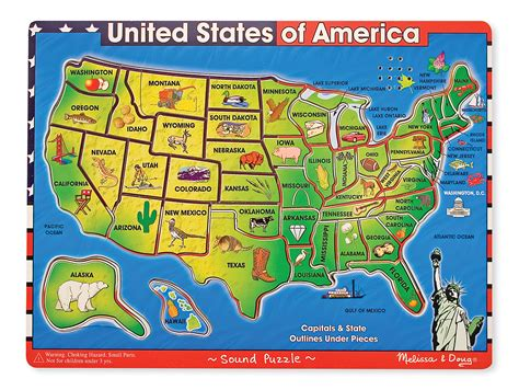 united states map puzzle states and capitals doug sound puzzle usa map happyaha