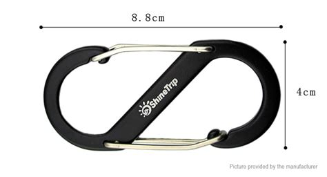 authentic hanging l 1 79 shinetrip s shaped carabiner keychain hanging buckle