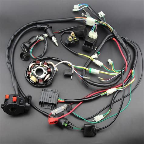 buggy wiring harness loom gy6 engine 125 150cc atv