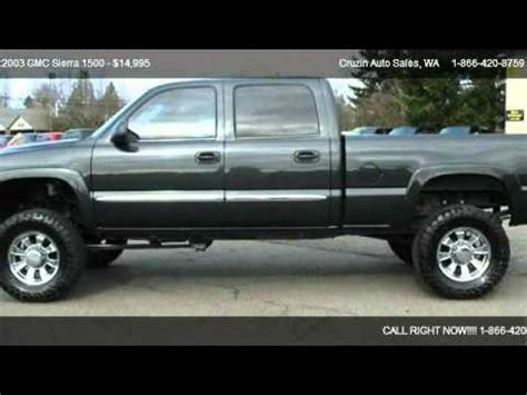 2003 gmc sierra 1500 hd sle crew cab short bed 4wd for sale in tacoma wa 98444 youtube