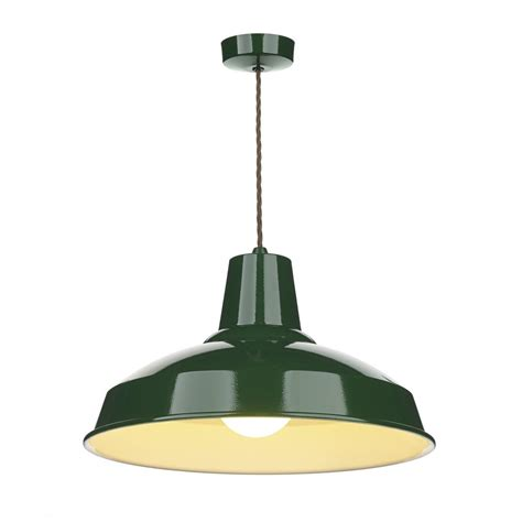 Industrial Retro Style Metal Ceiling Pendant Light In Green Pendant Lighting