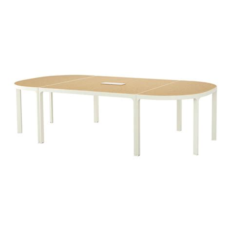 Bekant Conference Table Bekant Conference Table Birch Veneer White Ikea