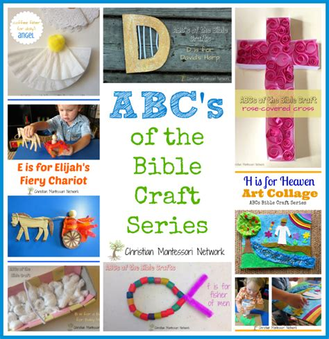 bible crafts for abcs of bible crafts for christian montessori network