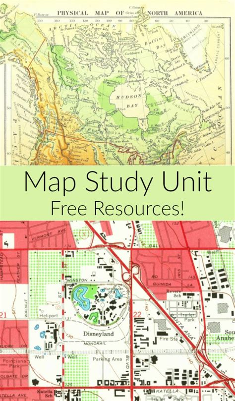 the study of maps map books for children intro to maps study unit