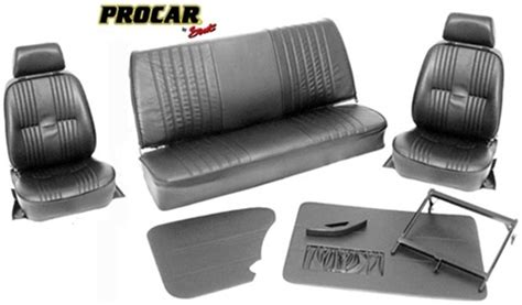 Karmann Ghia Interior Kit by Procar Pro 90 With Headrest Vw Interior Kit For