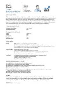 Sle Of C V Or Resume by Sales Cv Template Sales Cv Account Manager Sales Rep Cv Sles Marketing