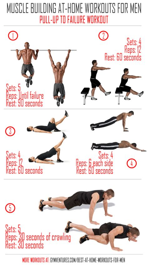 Home Workout Plans Men | at home workouts for men pullup to failure workout