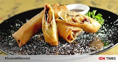 resep bikin lumpia pisang cokelat lumer  setiap gigitannya