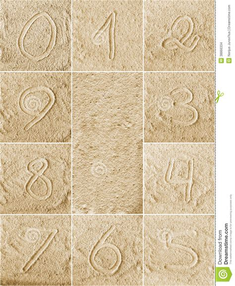 Written On numbers written on a sand stock photo image 38866334