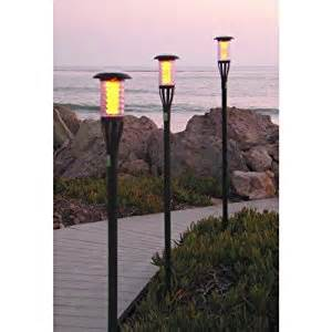 Patio Torch Lights Solar Tiki Torch Light With Flickering Led 8 Pack Torches Patio