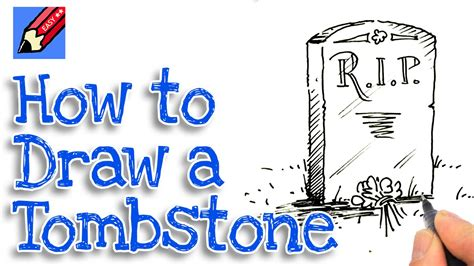 learn how to draw a tombstone real easy youtube