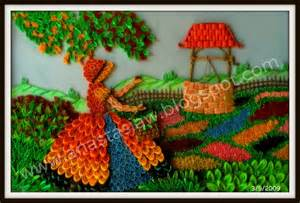 Owl Wall Mural anastasia annie wahalatantiri lady in the garden quilled