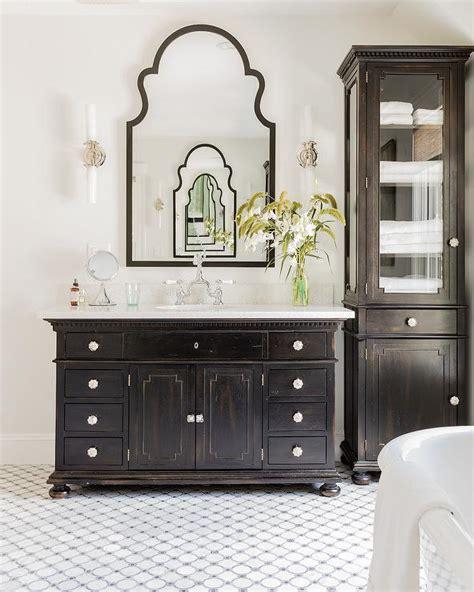 restoration hardware bathroom storage antique tall red cabinet