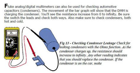 how to test a condenser capacitor condenser for a distributor