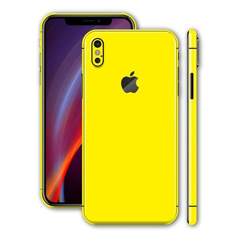 iphone x glossy lemon yellow skin wrap decal easyskinz