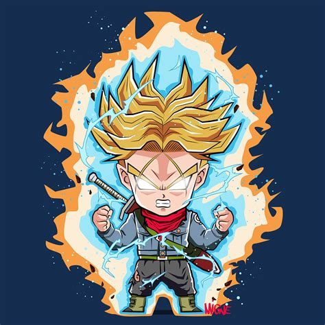 dragon ball z chibi wallpaper chibi trunks visit now for 3d dragon ball z compression