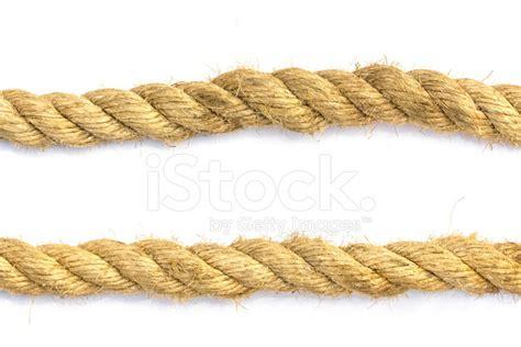 closeup jute rope  white background stock
