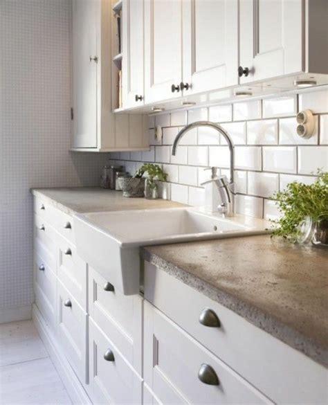 Ordinary Idee Faience Cuisine Blanc Sol Gris #5: 1-ikea-credence-pas-cher-meubles-de-cuisine-credence-de-cuisine-beige.jpg
