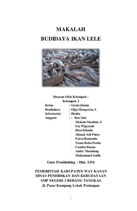 Bibit Lele Per Liter makalah budidaya ikan lele