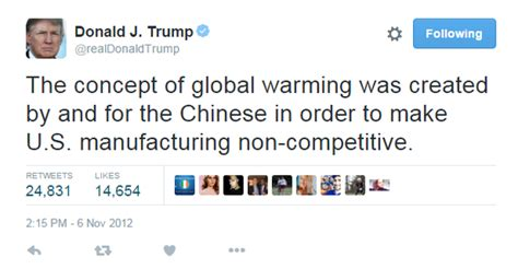donald trump global warming does donald trump believe in global warming quora