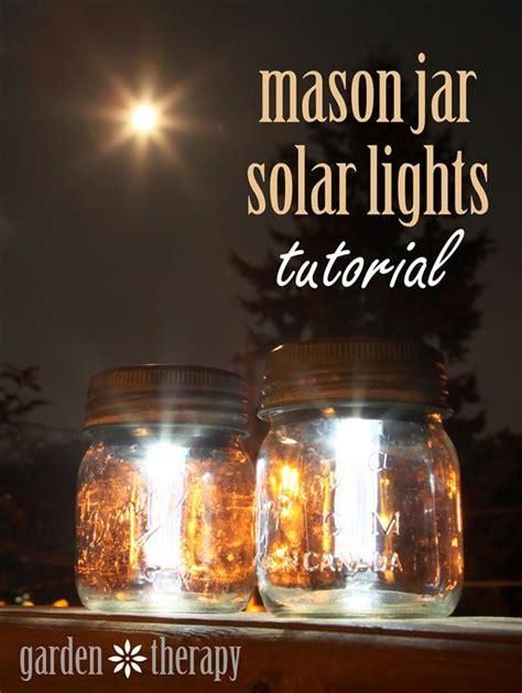Mason Jar Solar Lights How To Make Lights In A Jar