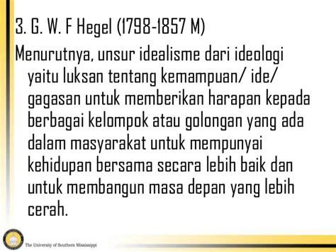 Filsafat Sejarah G W Fheggel idealisme positivisme dan materialisme