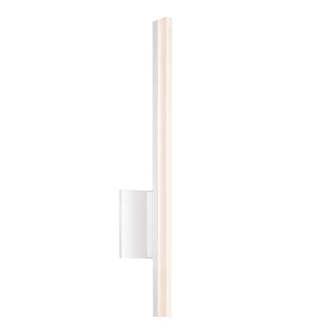 Dimmable Wall Sconce Sonneman Stiletto Satin White Led 24 Inch Dimmable Wall Sconce Bath Fixture With White Etched