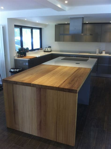 iroko work island extension kitchen design