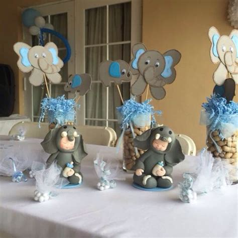 elephant theme baby shower centerpieces baby shower
