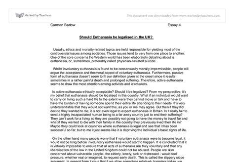 Legalizing Euthanasia Essay by Essay Euthanasia Should Legalised
