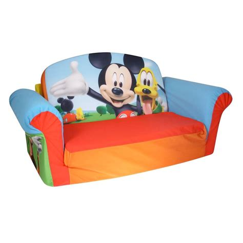 mickey mouse clubhouse sofa spin master marshmallow furniture flip open sofa mickey