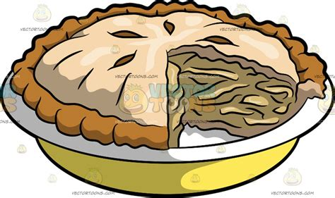 apple pie clipart an apple pie clipart by vector