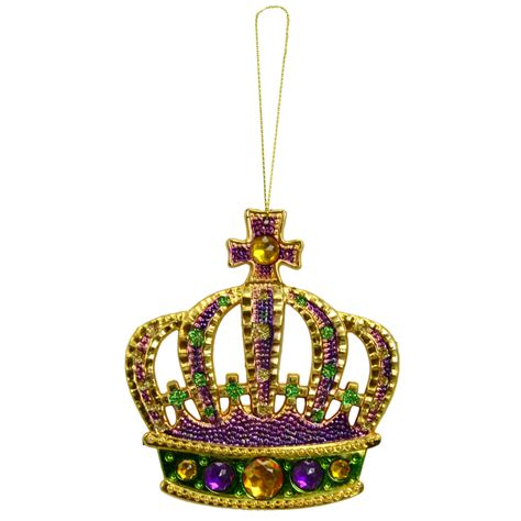 4 5 quot mardi gras crown ornament 1 35731 1 craftoutlet com