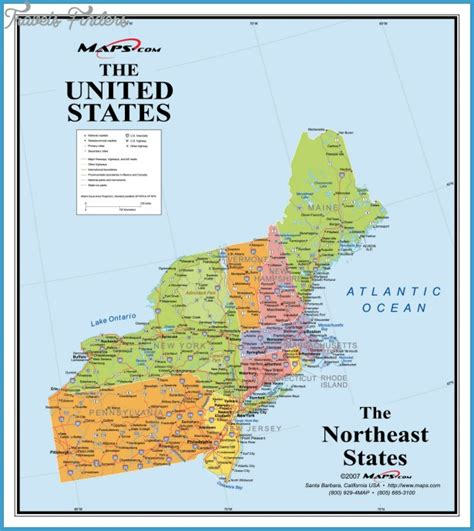 usa map northeastern states northeastern united states map travel map vacations