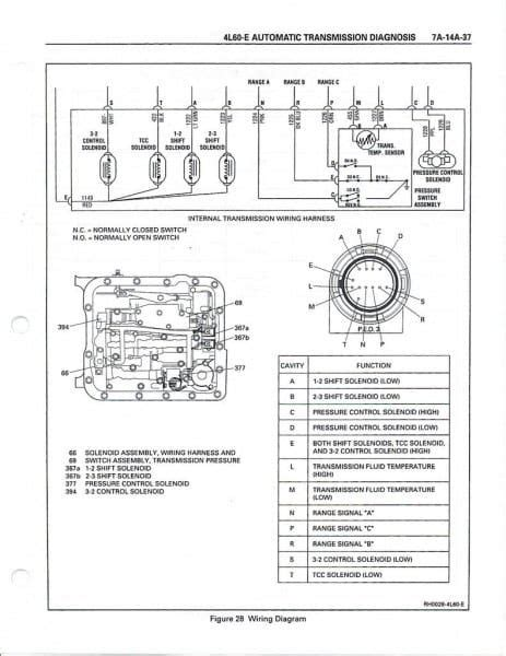 le wiring harness diagram   transmission chevy
