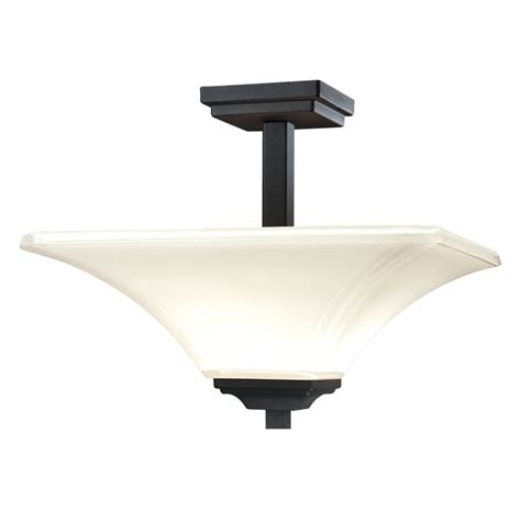 Minka Lavery Lighting Fixtures Minka Lavery 1816 66 Black 2 Light Semi Flush Ceiling Fixture From The Agilis Collection