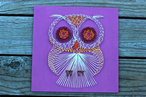 Nail And String Wall - hoot hoot owl nail and string wall by eclecticgreetings