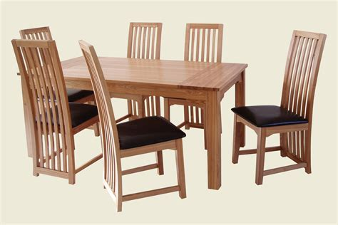 Six Chair Dining Table Zz Ashbourne Dining Table 6 Chair Set
