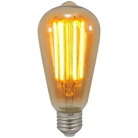 Es Led Light Bulbs 6 Watt St64 Es E27mm Decorative Dimmable Antique Lantern Led Bulb