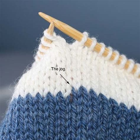 knit join in the the jogless knitting join step by step