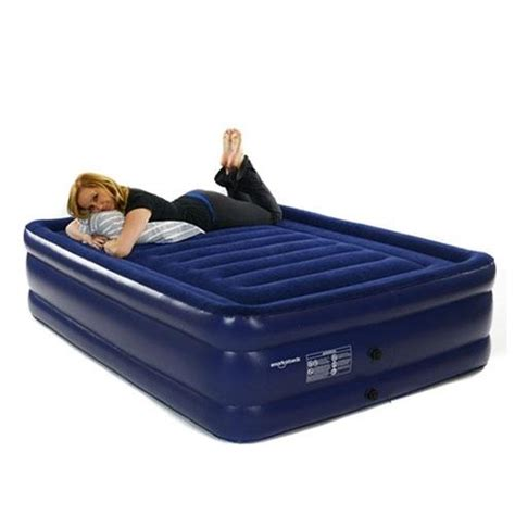 queen size inflatable bed smart air beds deluxe flock top raised queen size