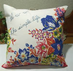 pillow cover floral design vintage fabric by