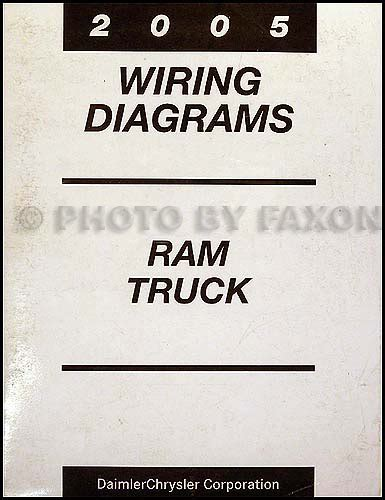 2005 dodge ram truck owner manual original gas