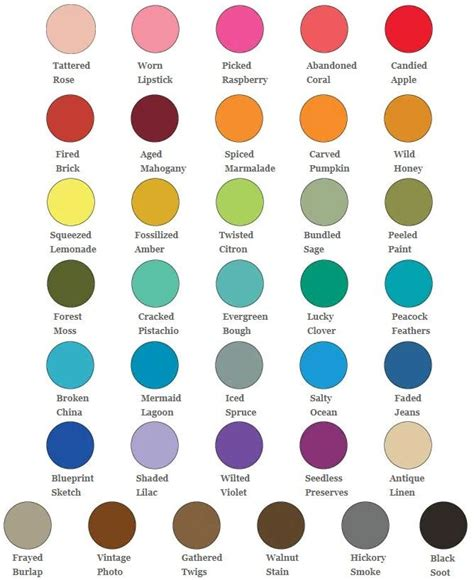 distress ink color chart ranger tim holtz distress oxide ink pad colour chart ink