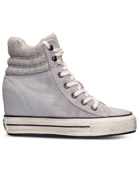 Sepatu Casual Converse Allstar Hi Grey lyst converse s chuck all platform plus hi casual sneakers from finish line
