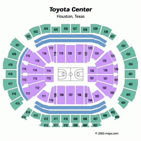Toyota Center Seating Chart Rockets Toyota Center